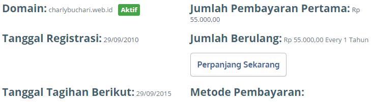 harga domain web id